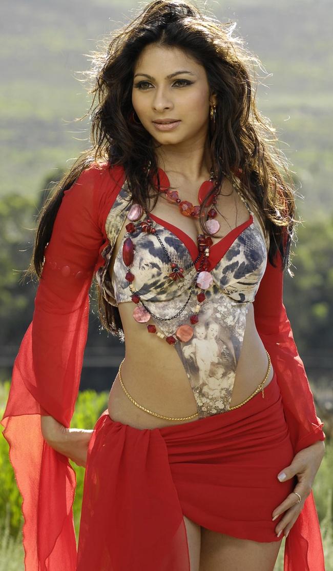 Tanisha Mukherjee in Red Hot Dress