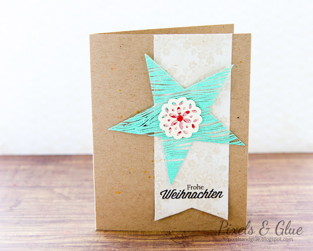 Scrap-Art-Zine Fall 2012 Pub - Handmade Christmas Card Embossed Star