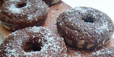 recetas de cocina donas de chocolate y nuez