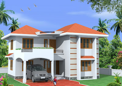 Home Design Plans on Green Homes  1800 Sq Feet 2 Storey Home Design