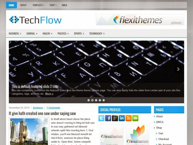 TechFlow - Free Wordpress Theme