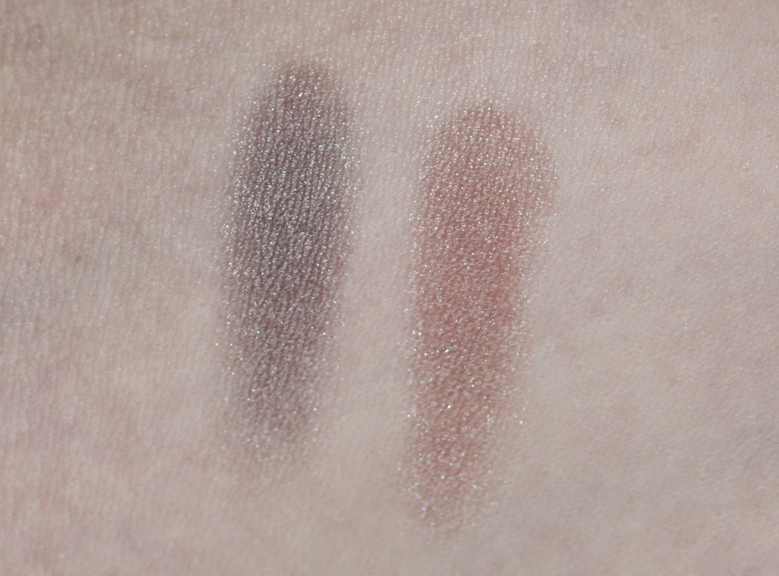 NYX Baked Eyeshadow in Death Star and Vesper Swatches & Review