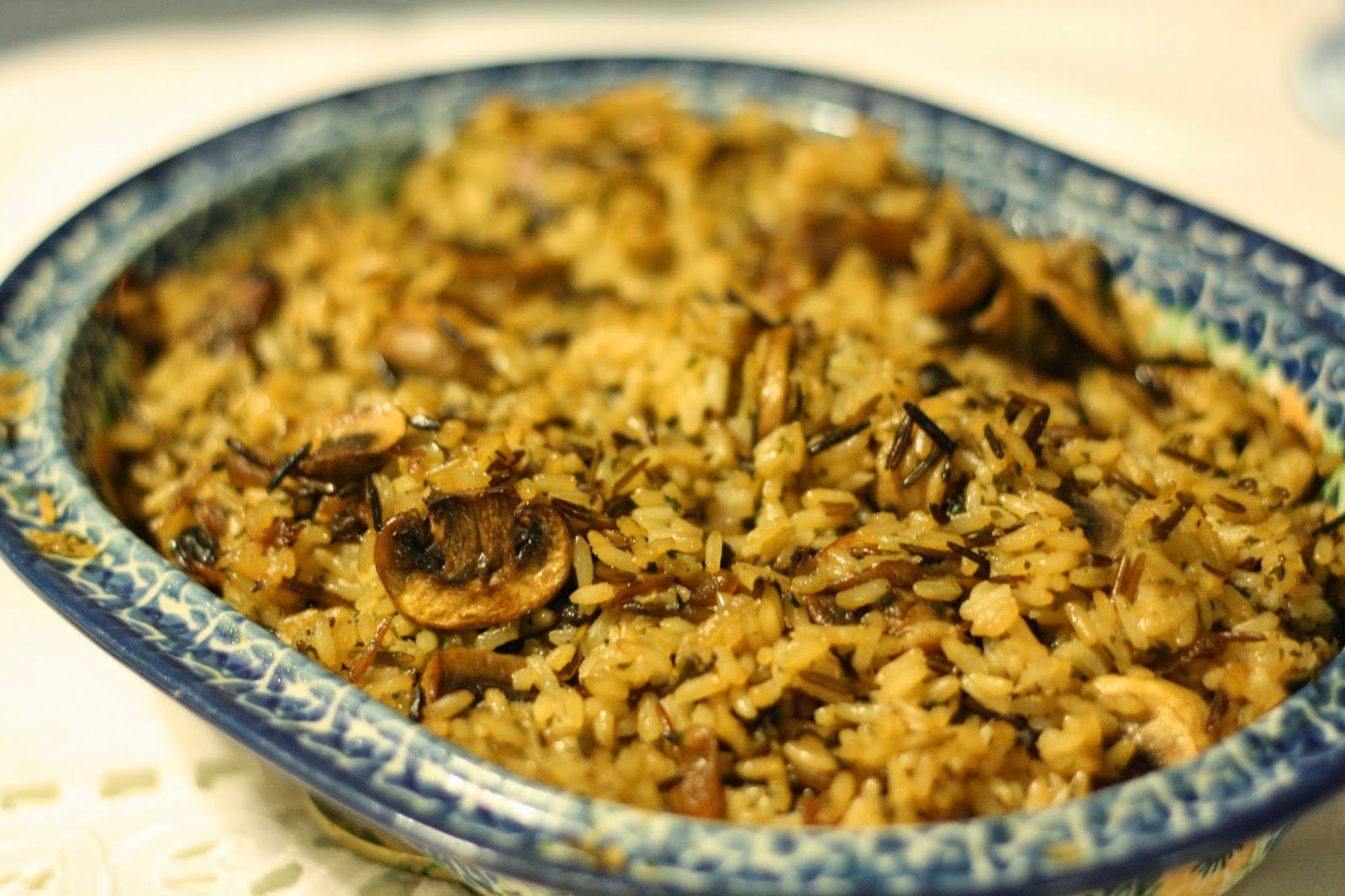 ... According to Ruth: Long Grain Wild Rice with Mushrooms and Shallots