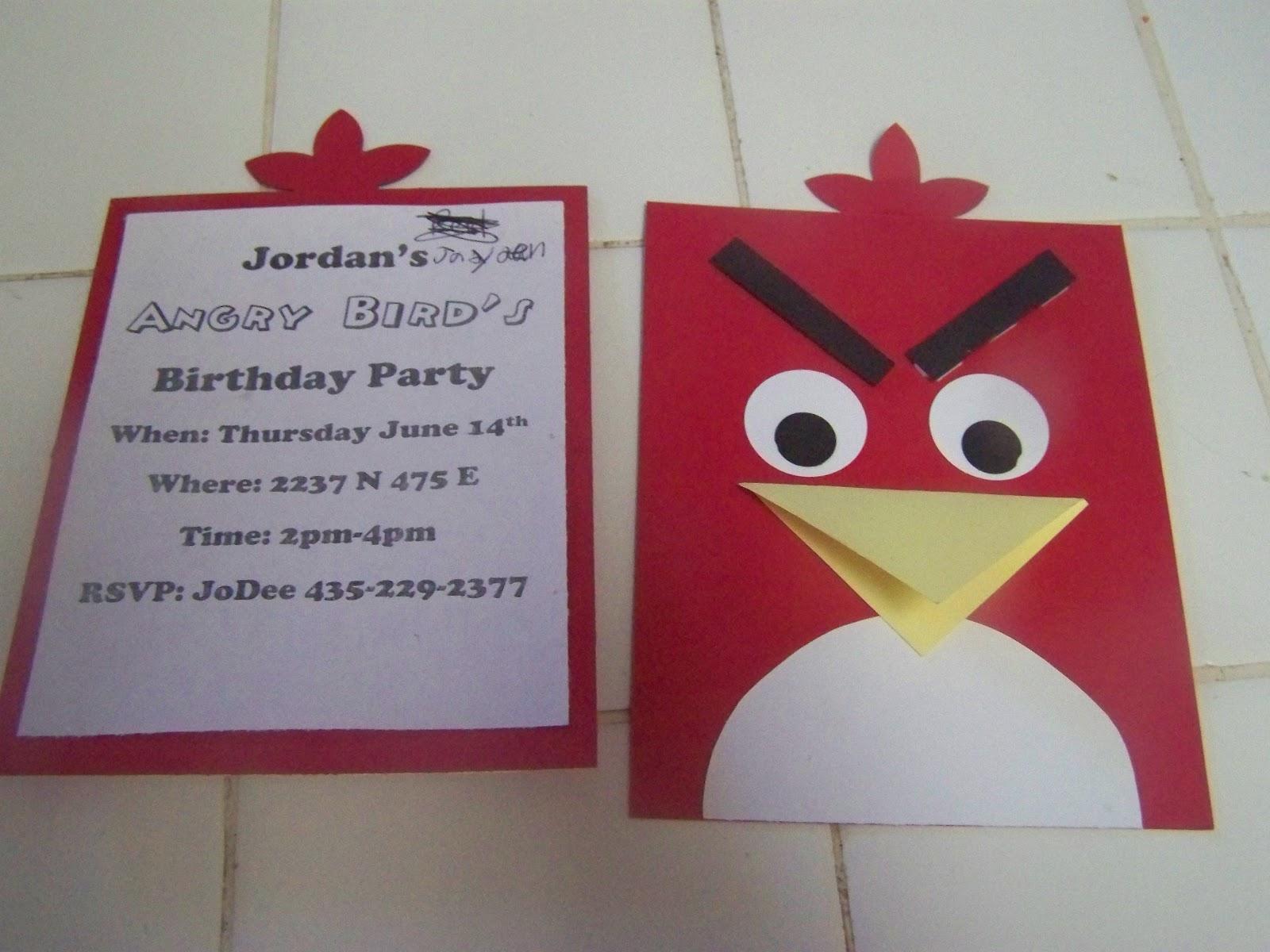 A to z for moms like me angry bird 39 s birthday party - Como hacer tarjetas de cumpleanos ...
