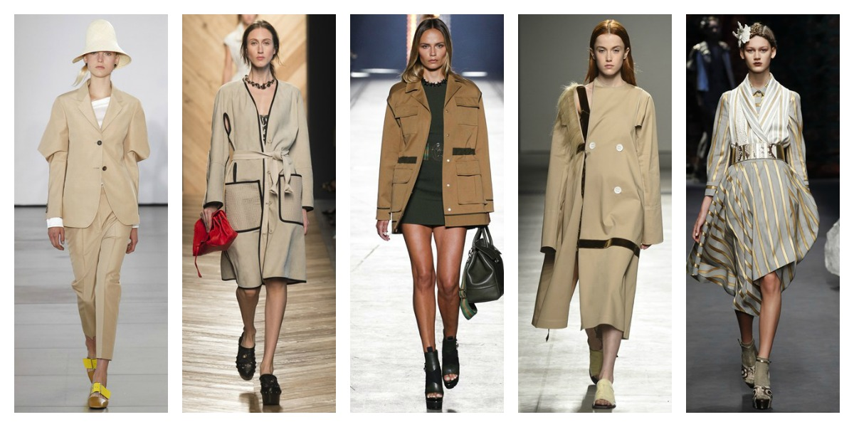 milan fashion week ss16 khaki neutral trend report mfw