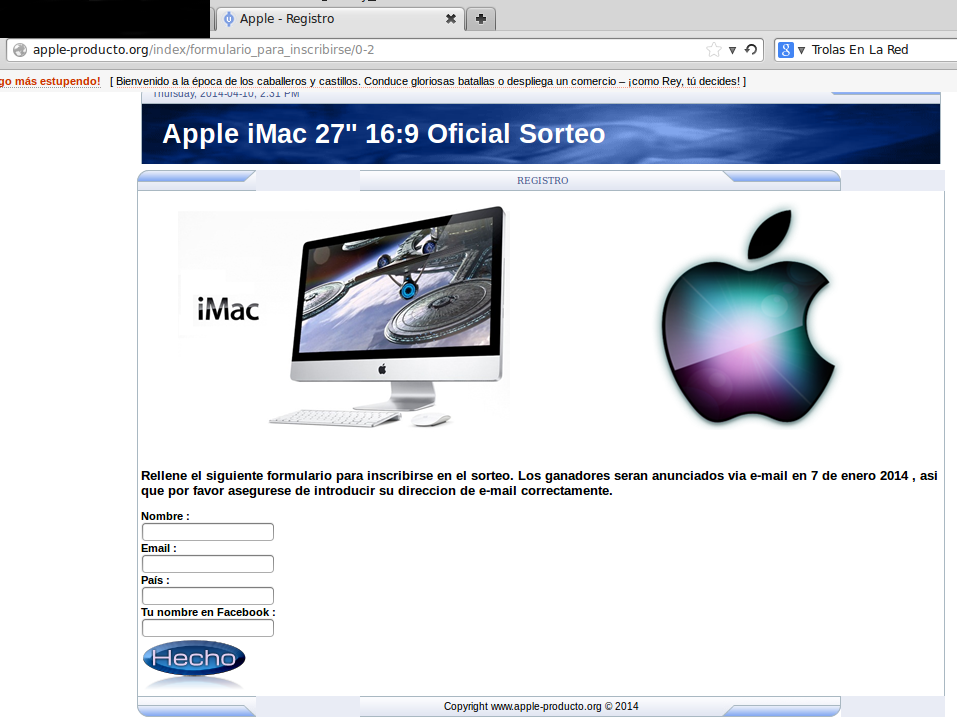 Registro Apple Oficial-Sorteo