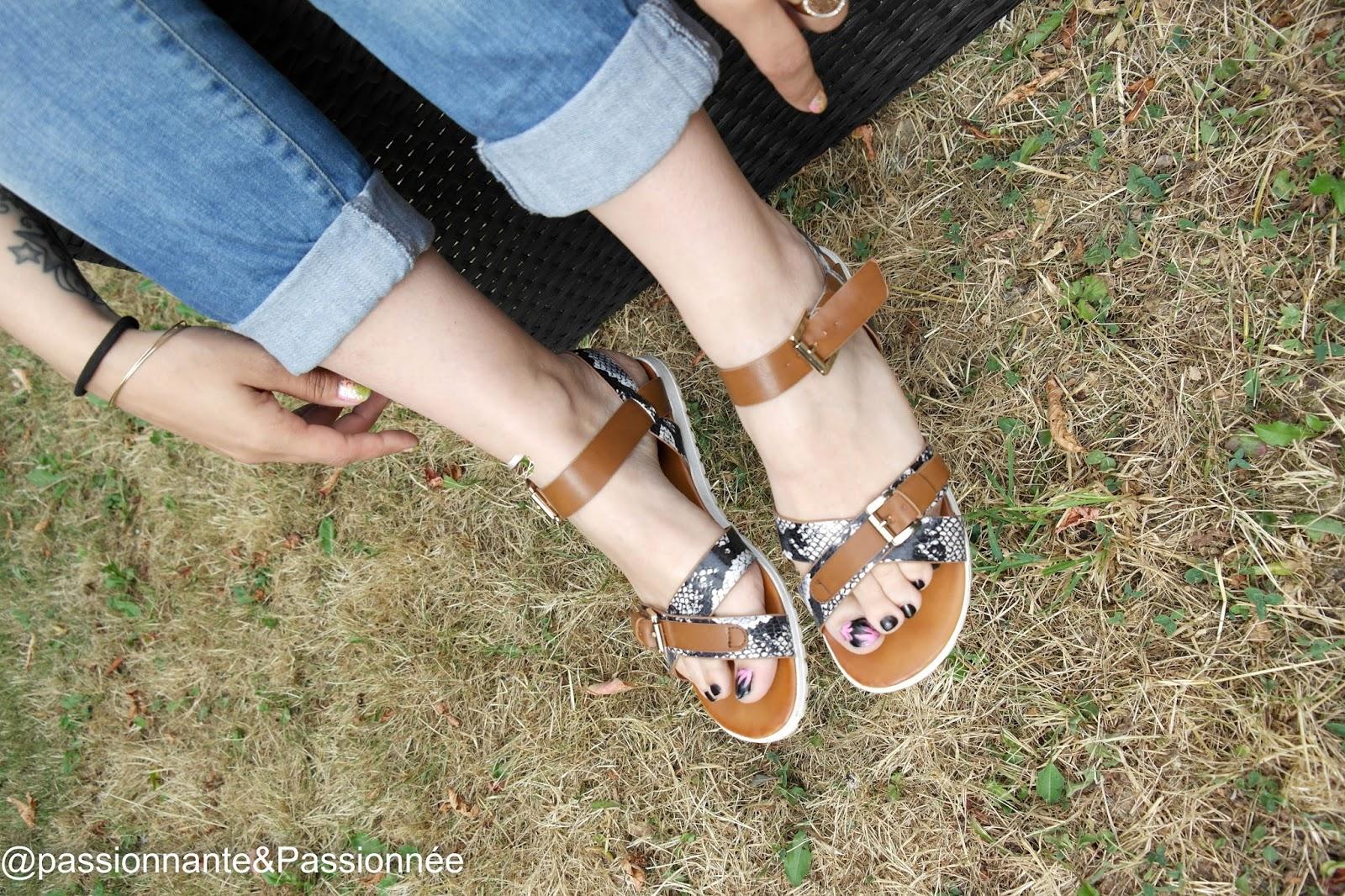 Sandales python La modeuse