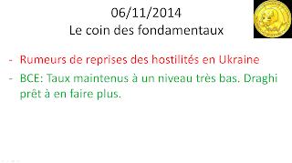 news actualités économiques et boursières 06/11/2014