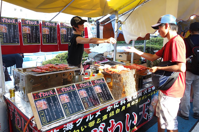 Japanese crab meat food stall