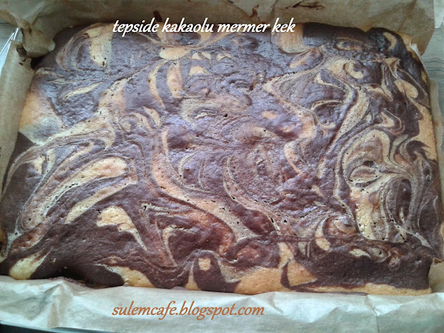 borcamda kakaolu mermer kek,kolay kek