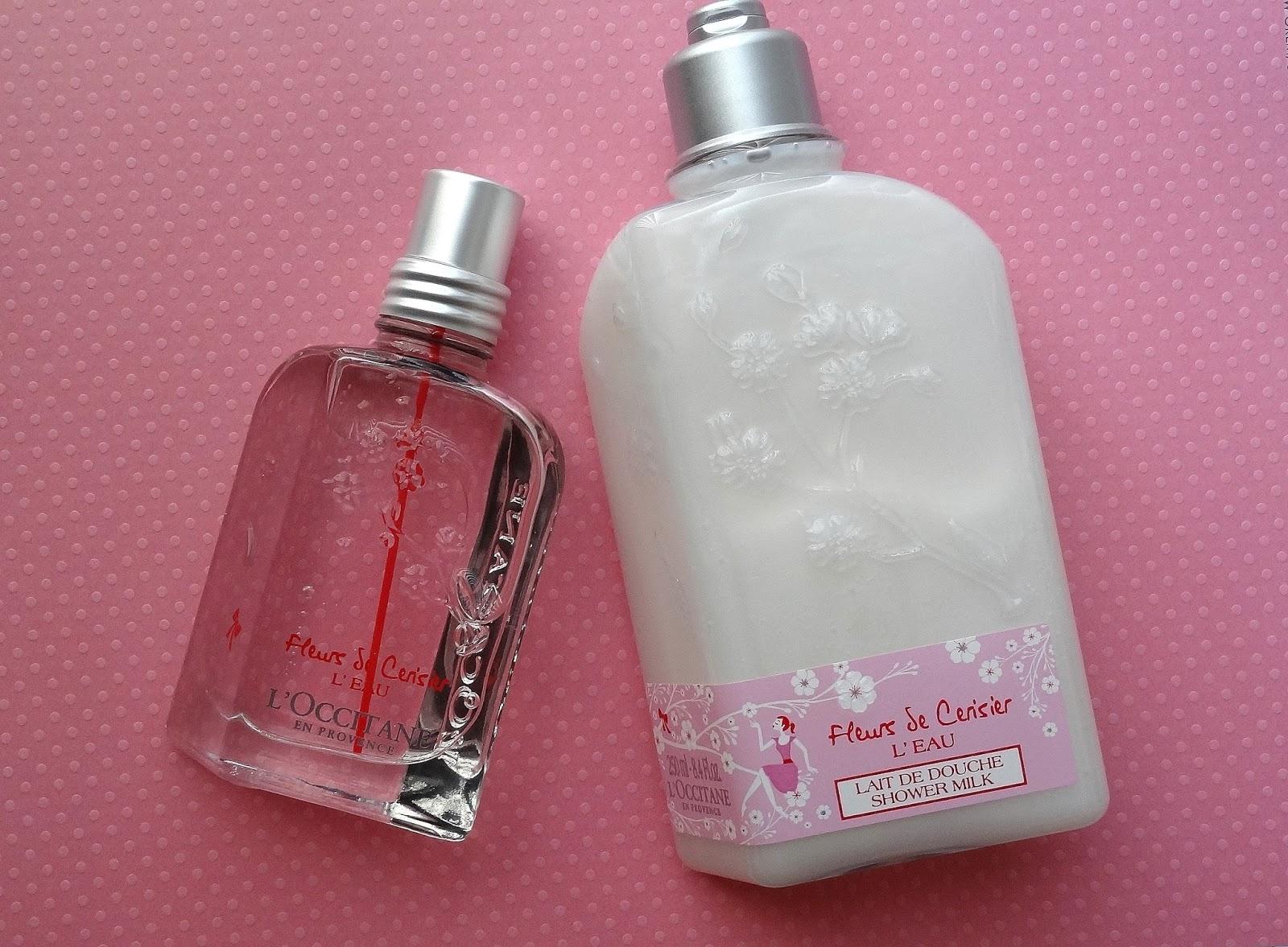 L'Occitane Fleurs de Cerisier L'Eau Collection - Eau de Toilette and Shower Milk