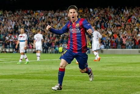 Messi Dua Gol, Barca Hantam Bayern 3-0