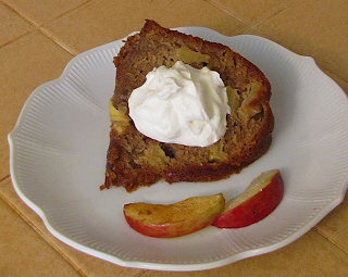 Amen Farms Apple Cake with Whipped Cream