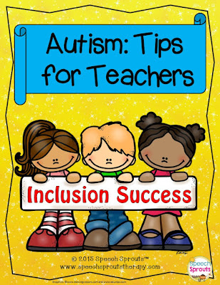 FREE: Autism: Tips for Teachers www.speechsproutstherapy.com