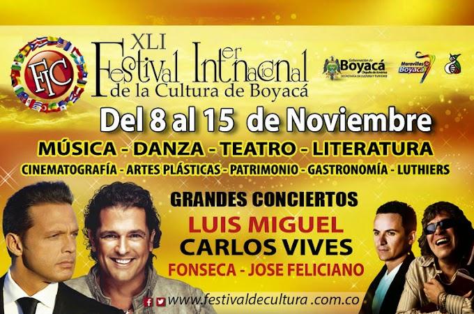 Este año el Festival Internacional de la Cultura de Boyacá, está para no perdérselo, entre el 8 y el 15 de noviembre