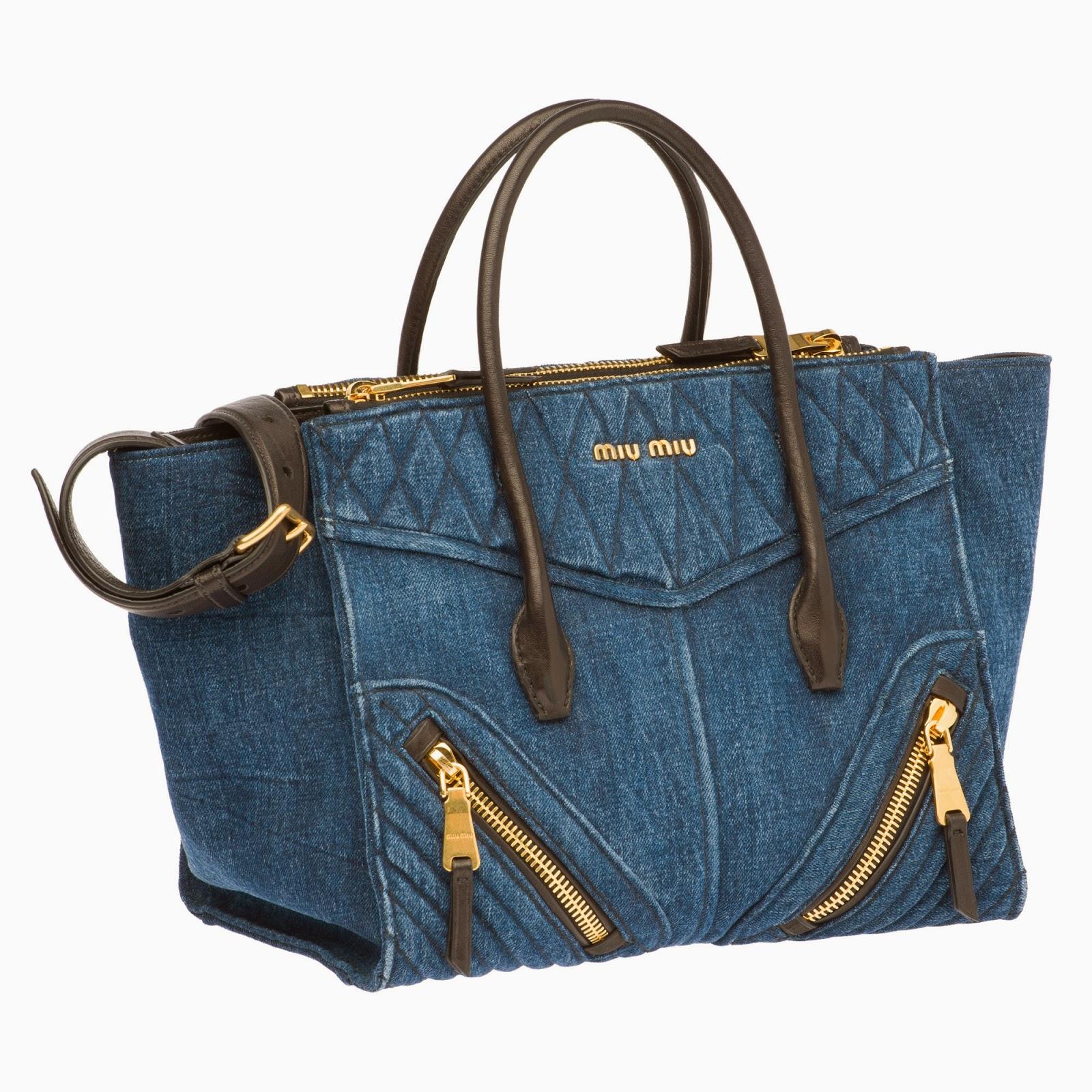 denim+tote Miu Miu Herbst Winter 2014 Handtaschen Modelle