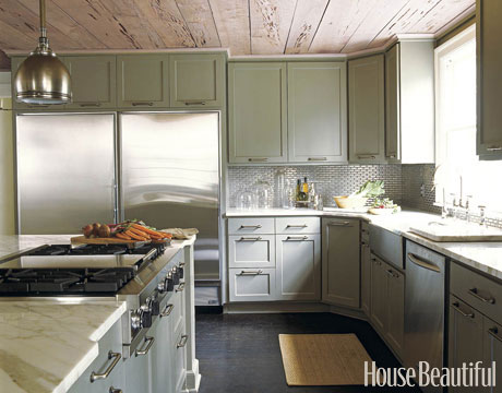 Refresheddesigns Green Idea Painting Old Kitchen Cabinets