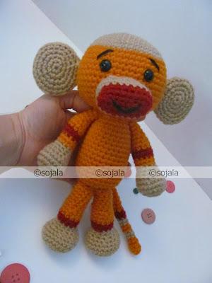 Amigurumi Go Monkey : Sock Monkey Free Crochet Pattern ~ Amigurumi To Go