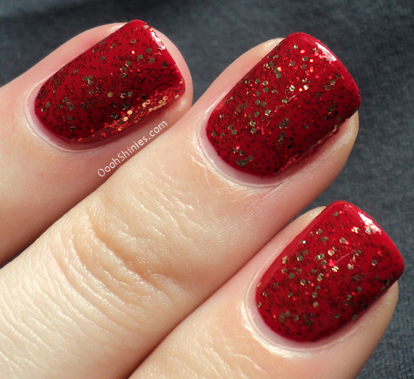 China Glaze Red Satin with Pure Joy