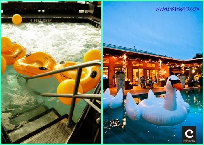 bóias temáticas para decoração de ambiente externo, piscina