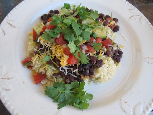 Elder Family Events: Quinoa Black Bean Burrito Bowls