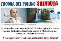 """""""San Benedetto"""" imbottiglierà acqua del Pollino. A Viggianello stabilimento da 150 milioni di bottiglie l'anno"""