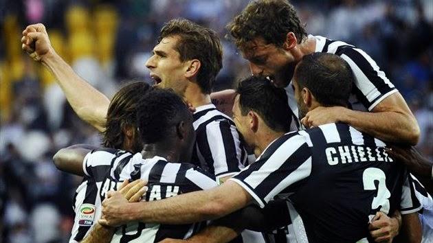 Dos goles del navarro dejan a la Juve saboreando el título.