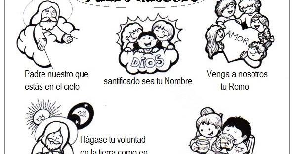 El Rincón de las Melli: Padrenuestro con dibujos