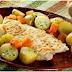 Bacalhau com creme de alho-poró e cobertura crocante