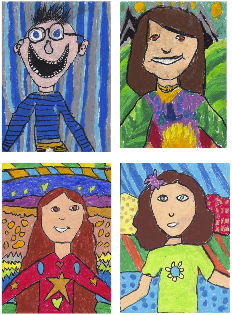 the rolling artroom self portraits 1st 3rd grade