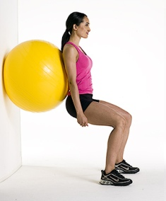 Planet Fitness 24-Squats With Exercise Ball