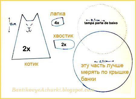 Схема выкройки игольницы