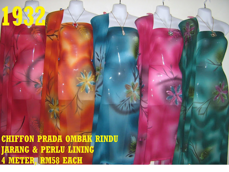 CP 1932: CHIFFON PRADA OMBAK RINDU, JARANG DAN PERLU LINING, 4 METER