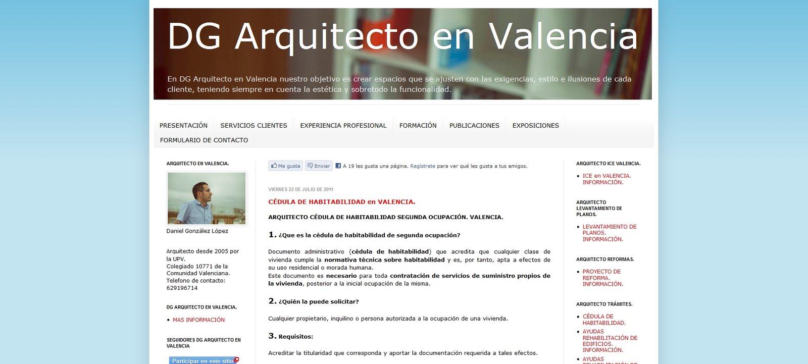 Directorio de arquitectura dg arquitecto en valencia - Listado arquitectos valencia ...
