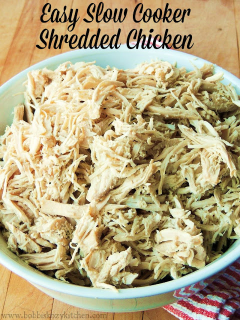 Easy Slow Cooker Shredded Chicken from www.bobbiskozykitchen.com