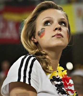 German girls fans Euro 2012