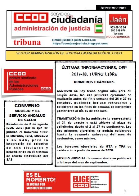 TRIBUNA SEPTIEMBRE 2019