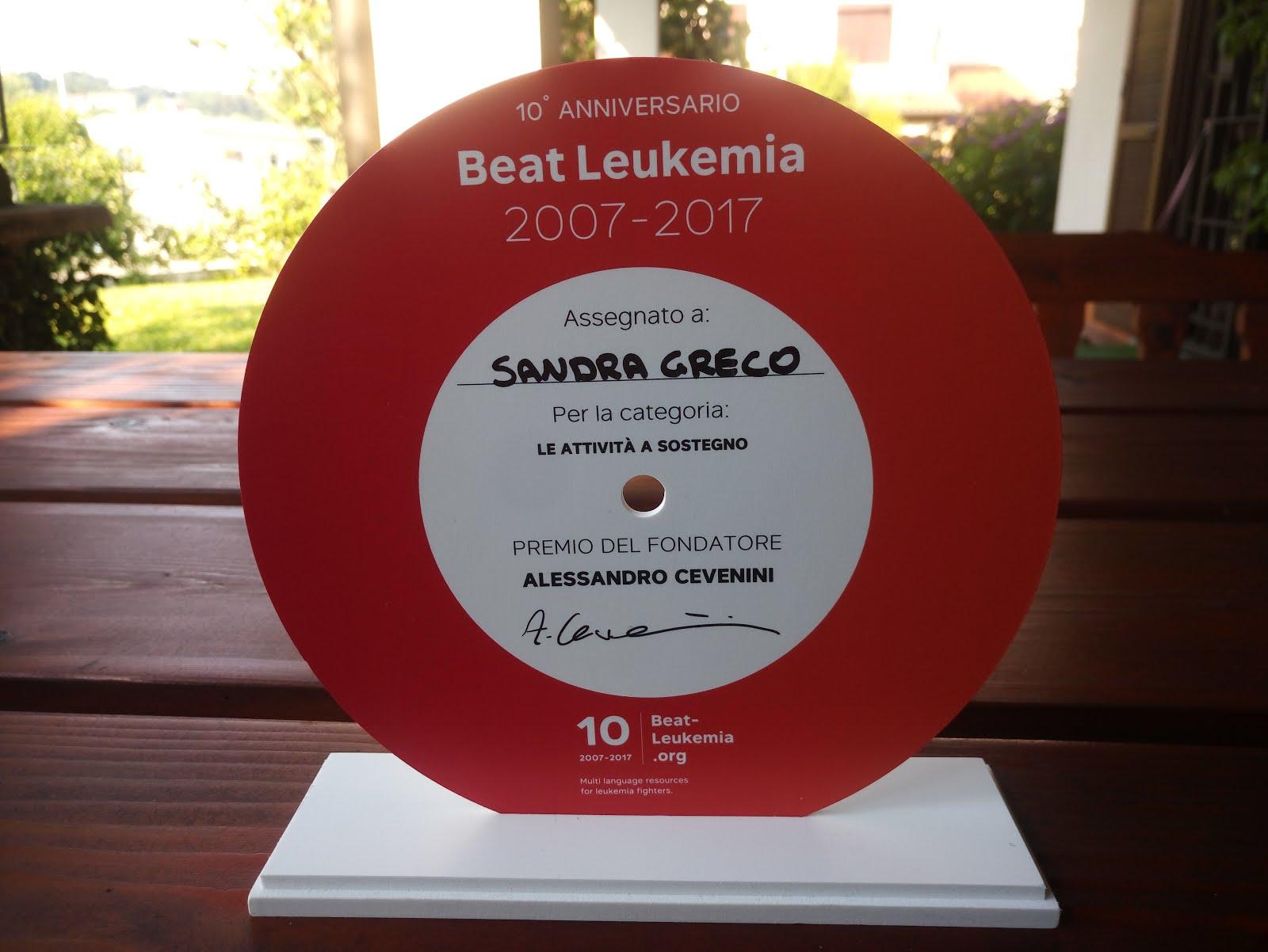 Premiazione Sostenitori Beat Leukemia