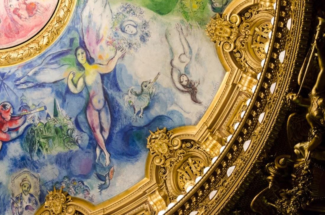Opéra Garnier - salle de spectacle - Chagall