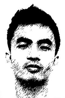 sketsa wajah kurir paket bom