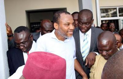 nnamdi kanu arrives at abuja court