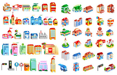 Download Buildings Vector Free 3D Vector Glossy, vektor bangunan, vektor denah, vektor untuk denah, Télécharger Free Vector Bâtiments 3D Vector Glossy, Gebäude, free, vektor, black and white vector, Cute free vector isometric buildings, houses, movie theater, traffic signs, stands, parking sign, truck, bus station, hotel, police, factory, castle, shopping mall, all kinds of shops, marts and misc.