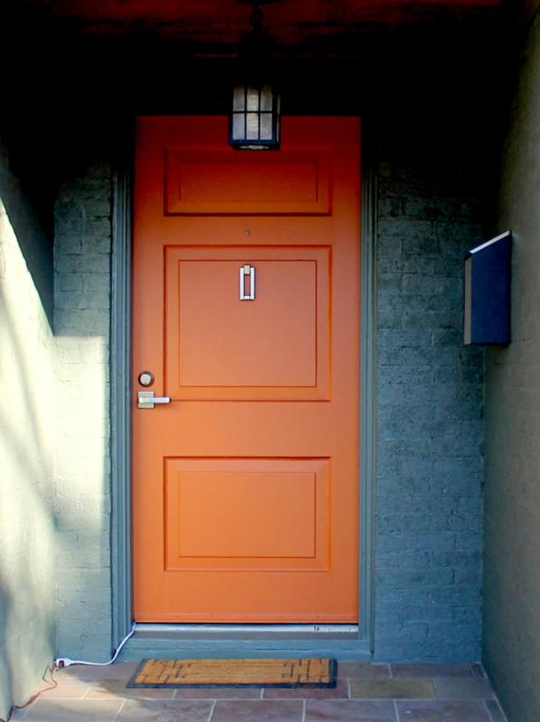 And yes the long awaited orange door. & Mid2Mod: Green house orange door