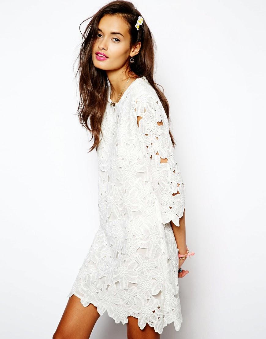 native rose white dress
