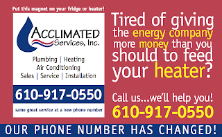 HVAC postcard with magnet attached