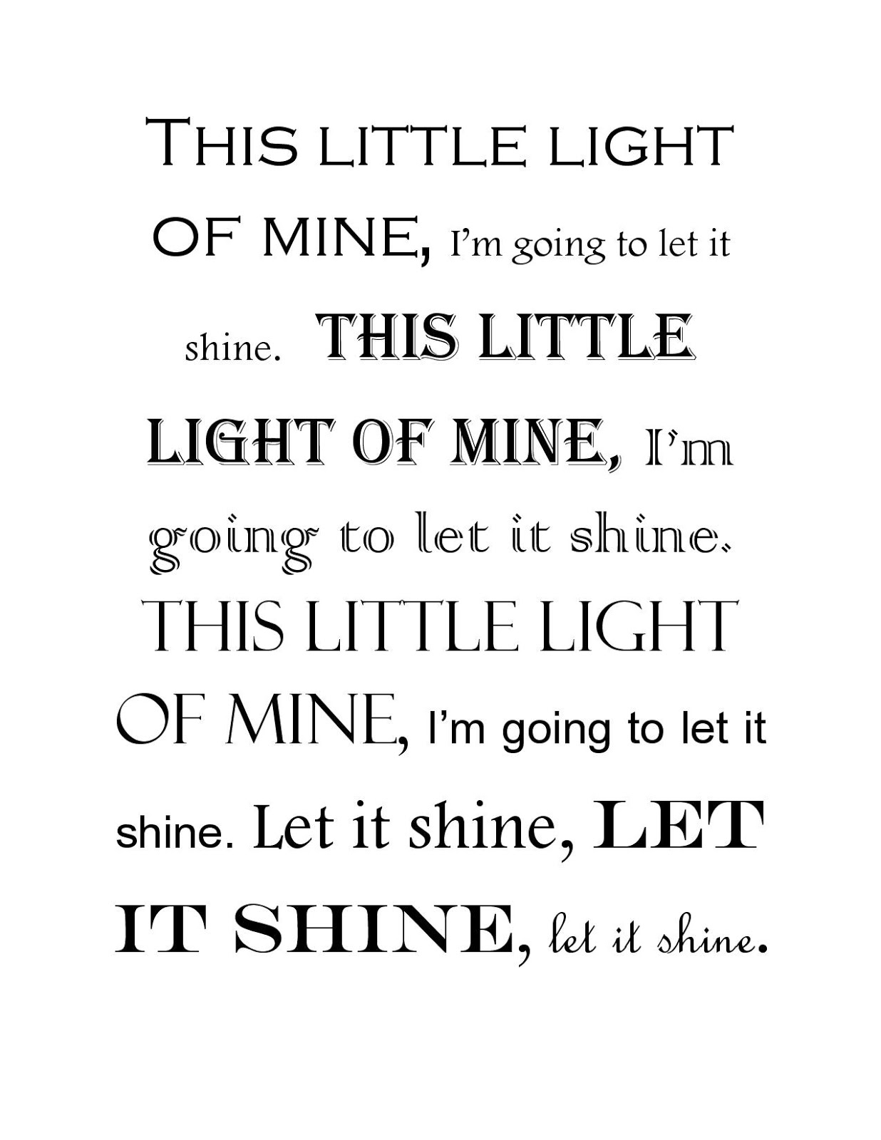 Let it Shine - My Heart Lives Here