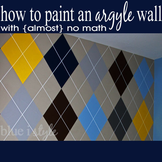 How to Paint an Argyle Wall