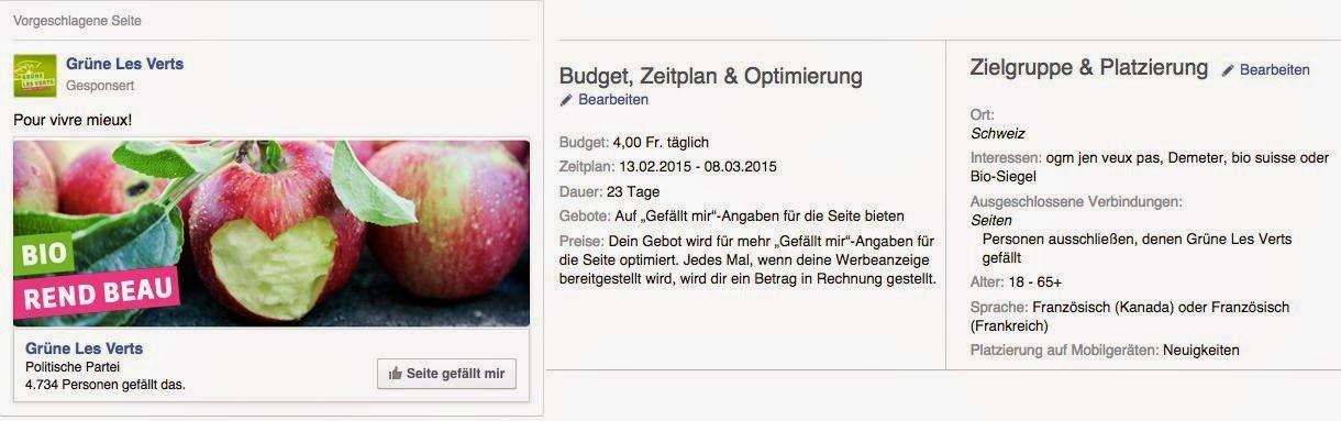 Screenshot Facebook-Werbeanzeigen-Manager