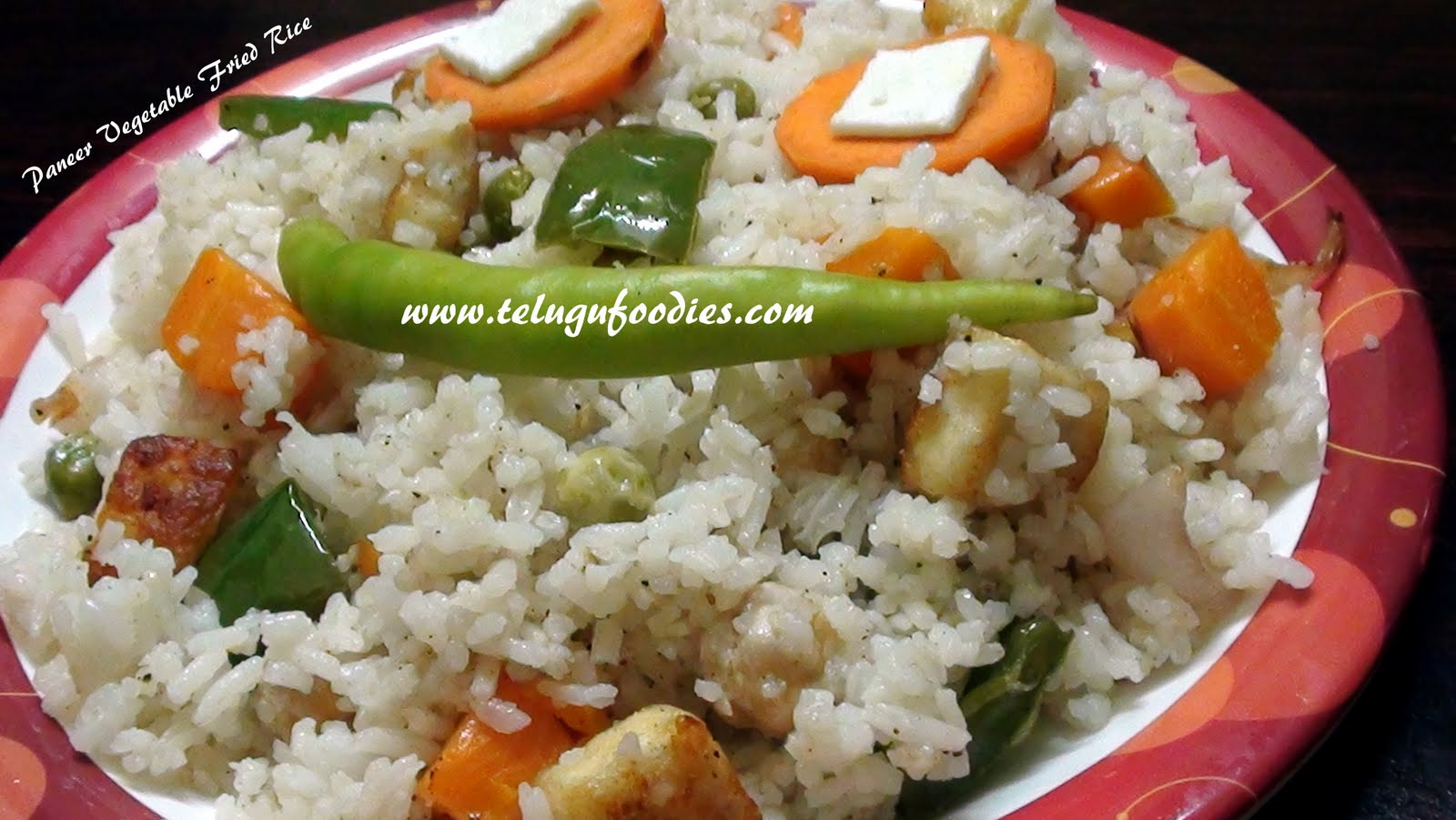 Paneer vegetable fried rice homemade telugu recipes ccuart Image collections