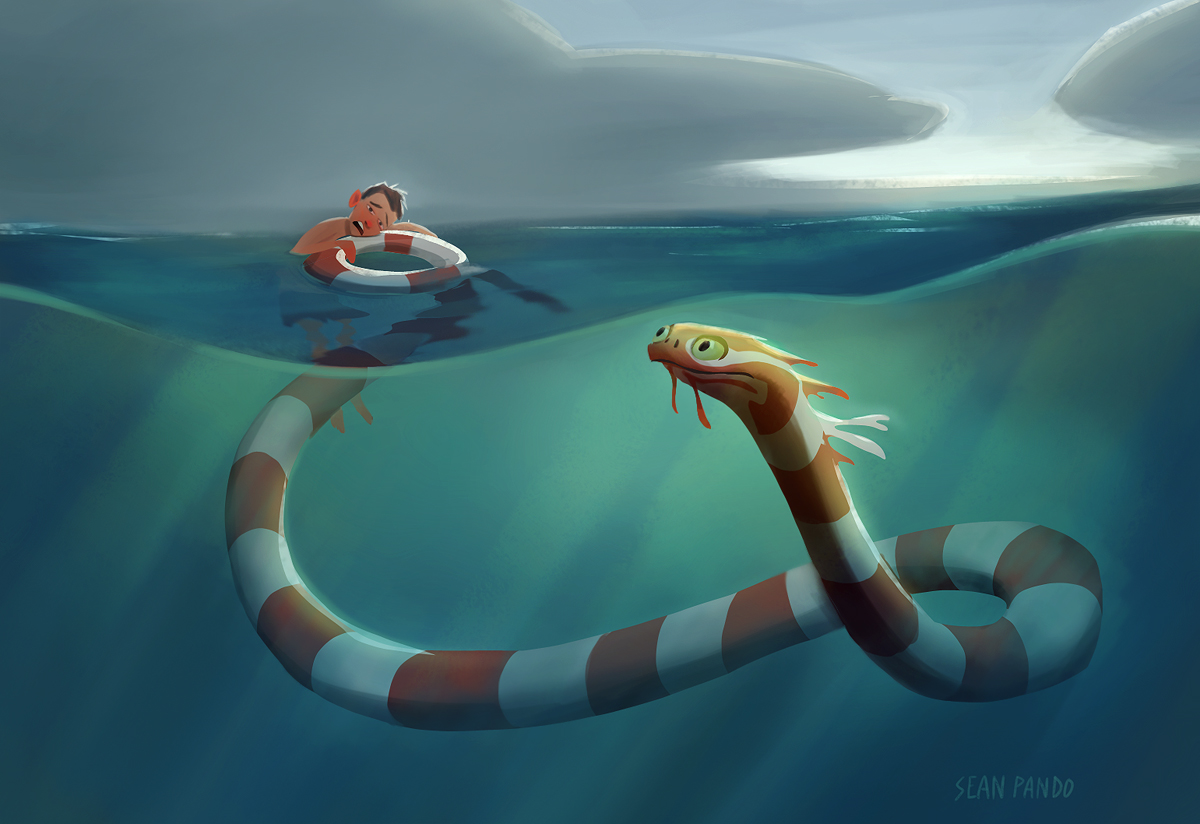 Giant sea monsters art - photo#23